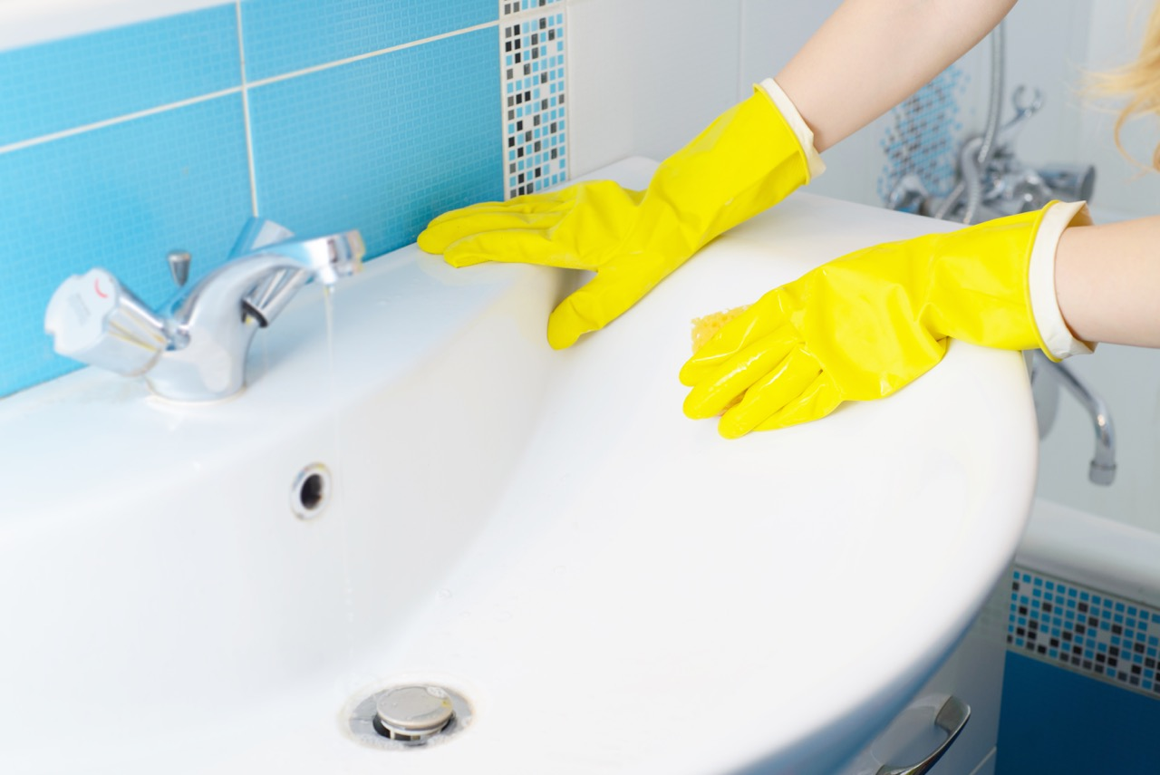 Mould Free House with Rubber Gloves