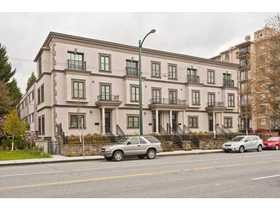 4 TOWNHOMES IN POINT GREY at Alma Street & West 6th Avenue